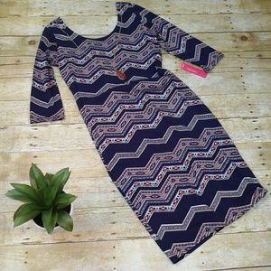 Xhilaration 3/4 Sleeve Tribal Print Dress